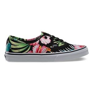 Vans Authentic Hawaiian Floral Black Sneakers